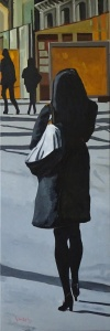 James Bond Girl, 120x40, oil on canvas, DIRECT 950€