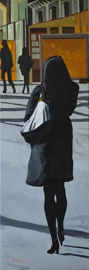James Bond Girl, 120x40, oil on canvas, Brooksby © 2015