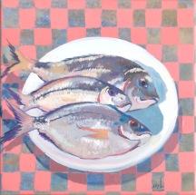 3 fish 30x30 cm