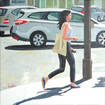 Summer RDV, 50x50 cm, oil on canvas, Brooksby © 2015