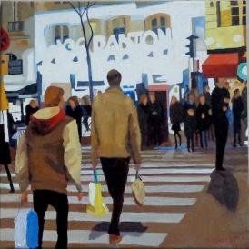 UGC Mabillion, 50x50cm, oil on canvas, Brooksby © 2015