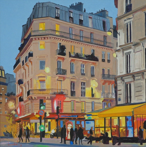 Rue Monge - 80x80cm Private Collection