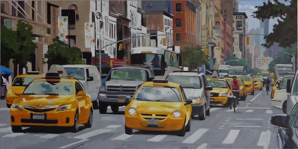 Bike Lane 60x120, private collection, Paris