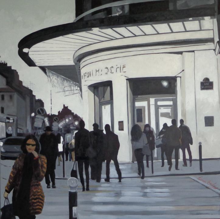 Le Bon Marché, 100x100cm, oil on canvas, Brooksby © 2014 SOLD