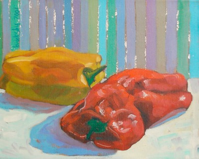 Peppers and stripes 25x30 cm