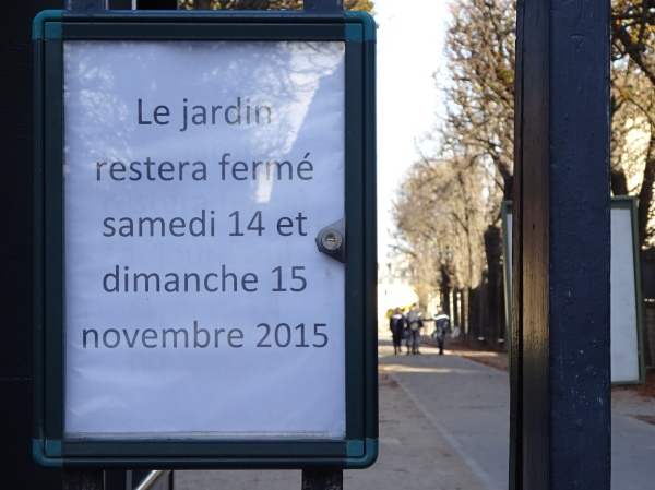 Luxembourg gardens closed