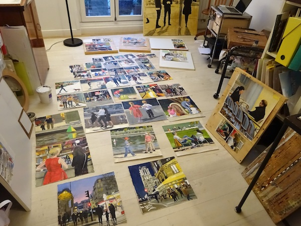 40 plus paintings for Carre d'artistes