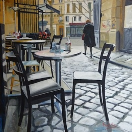 oil painting of contemporary Paris by Angie Brooksby