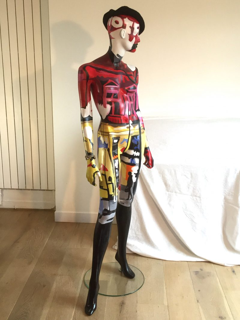 painted mannequin