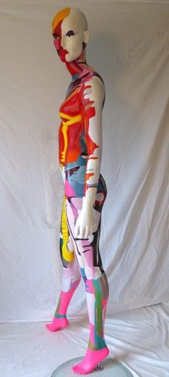 polychrome mannequin painted by Angie Brooksby ©2016