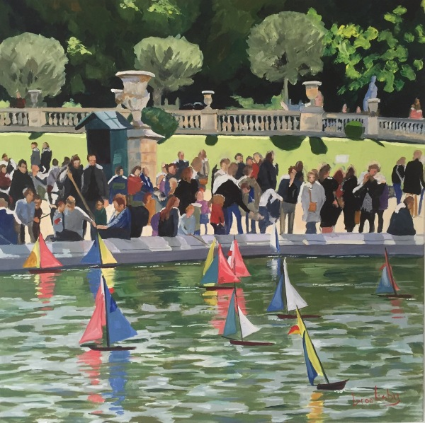 Boats in Jardin des Luxembourg, private collection, USA