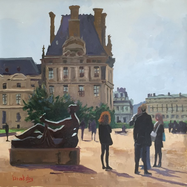 Le Louvre,  private collection,