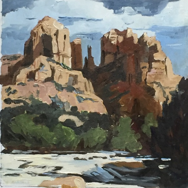 Cathedral Rock river, private collection, USA