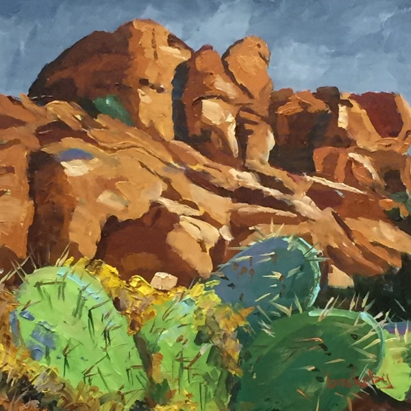 Cacti and rocks, private collection, USA