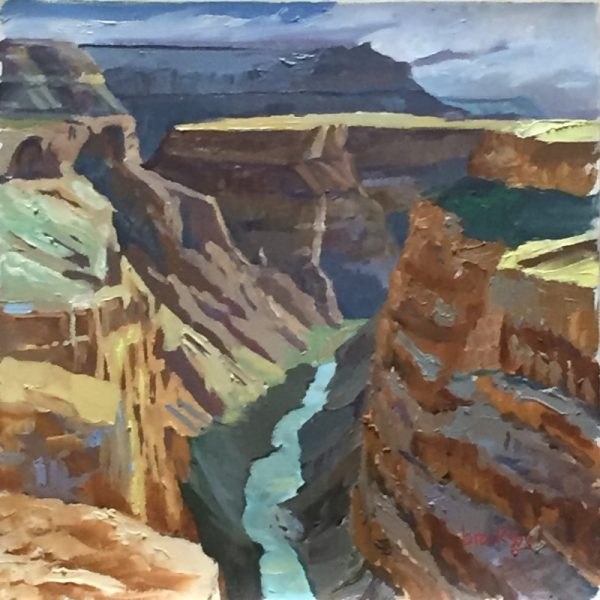 oil painting of Grand Canyon by Angie Brooksby