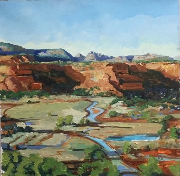 36x36 cm, oil on canvas, ©2017 Angie Brooksby-Arcangioli