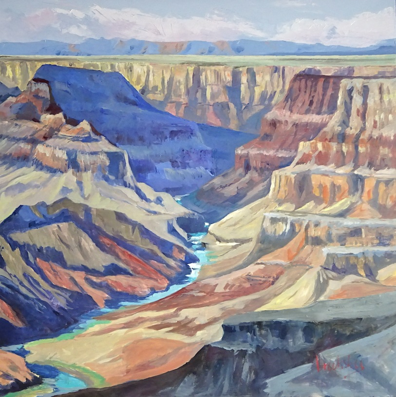 Grand Canyon Blues, 100x100cm, private collection,
