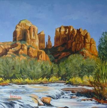 Oak Creek Canyon -80x80 cm oil on linen