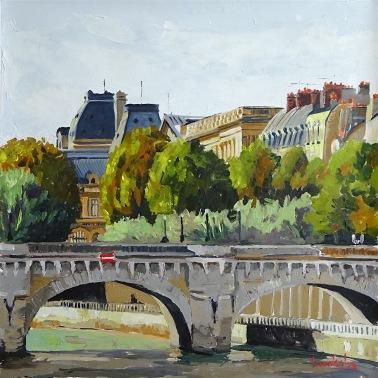 Pont Neuf 36x36 cm ©2016 Brooksby