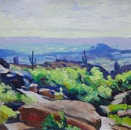 Purple Valley, 36x36cm, oil on canvas, ©2017 Angie Brooksby-Arcangioli