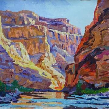 Final Curve, 36x36cm oil on canvas, oil on canvas, ©2017 Angie Brooksby-Arcangioli