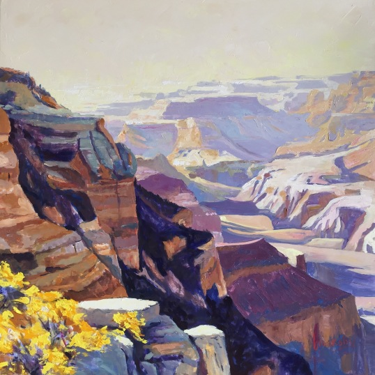 Grand Canyon Love, 80x80 cm, oil on canvas, private collection,