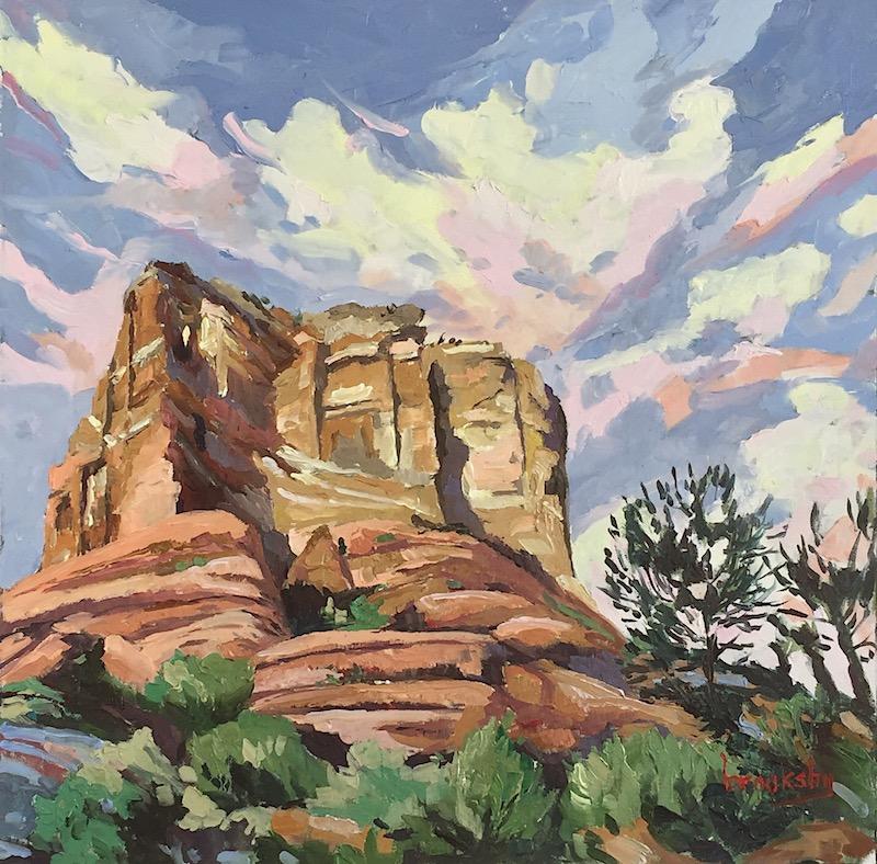 original oil painting of Sedona Arizona by Angie Brooksby