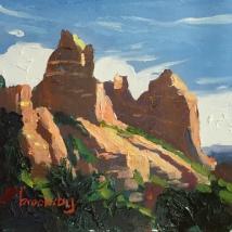 1 13x13cm, oil on canvas, ©2017 Angie Brooksby-Arcangioli
