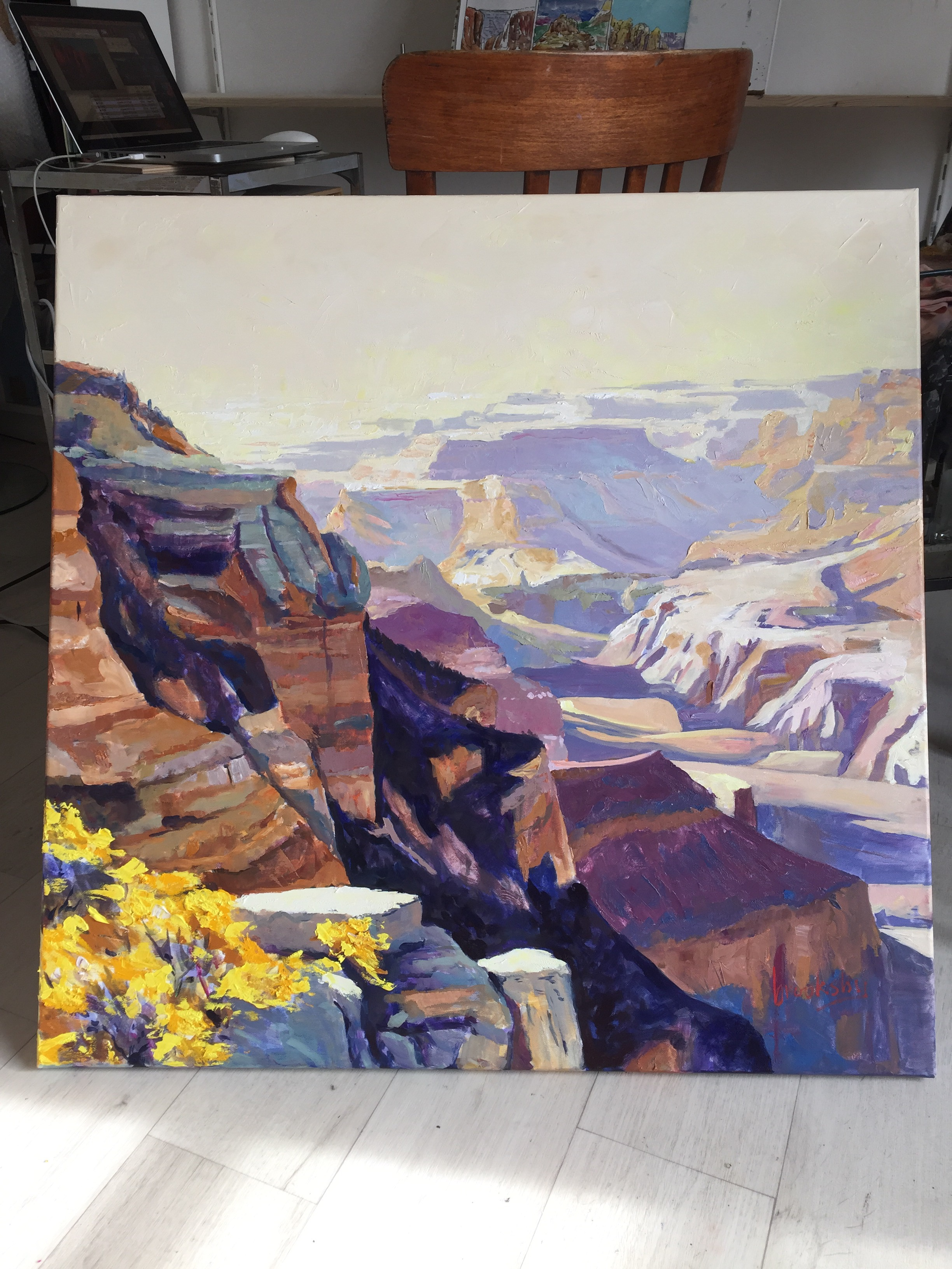 original oil painting of the Grand Canyon by Angie Brooksby-Arcangioli