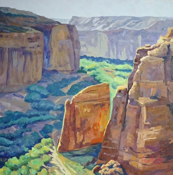 Canyon de Chelley, 100x100cm private collection,