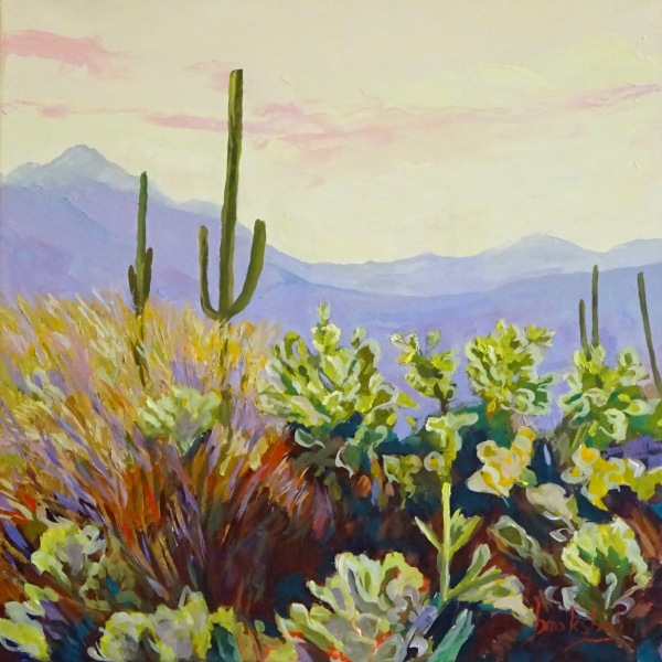 Cactus and Yellow, private collection,