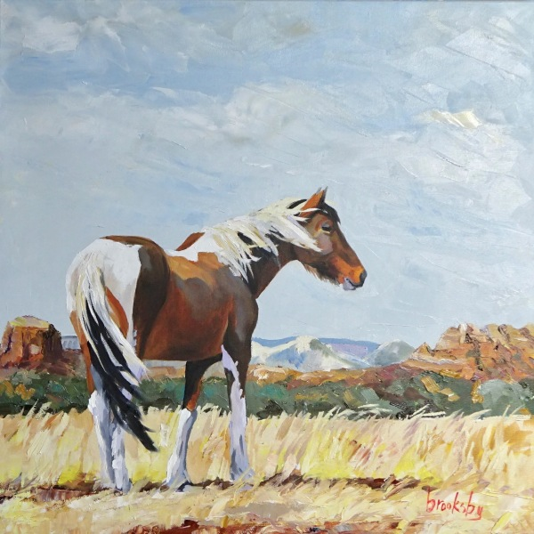 Love is a Pinto Pony, 50x50cm, oil on canvas private collection