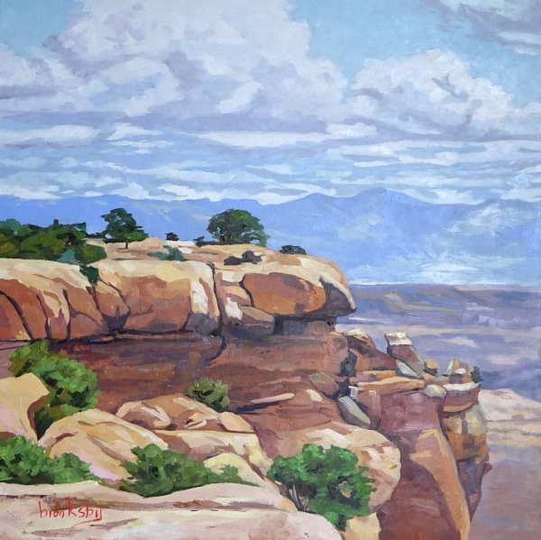 Canyonlands, 80x80cm, oil on canvas, private collection,