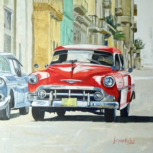 Cuban Taxi 80x80cm :  oil on canvas available DIRECT or SINGULART 1690€