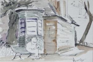 original watercolor of Paris