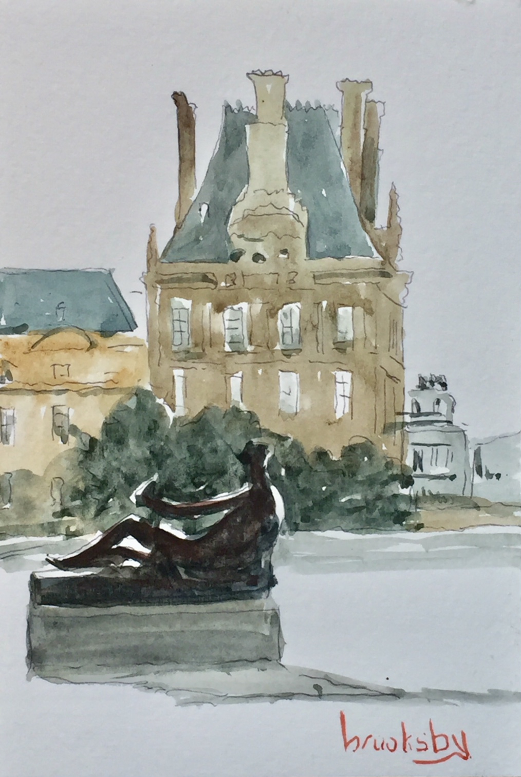 Louvre-postcard