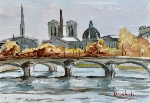 Seine-postcard