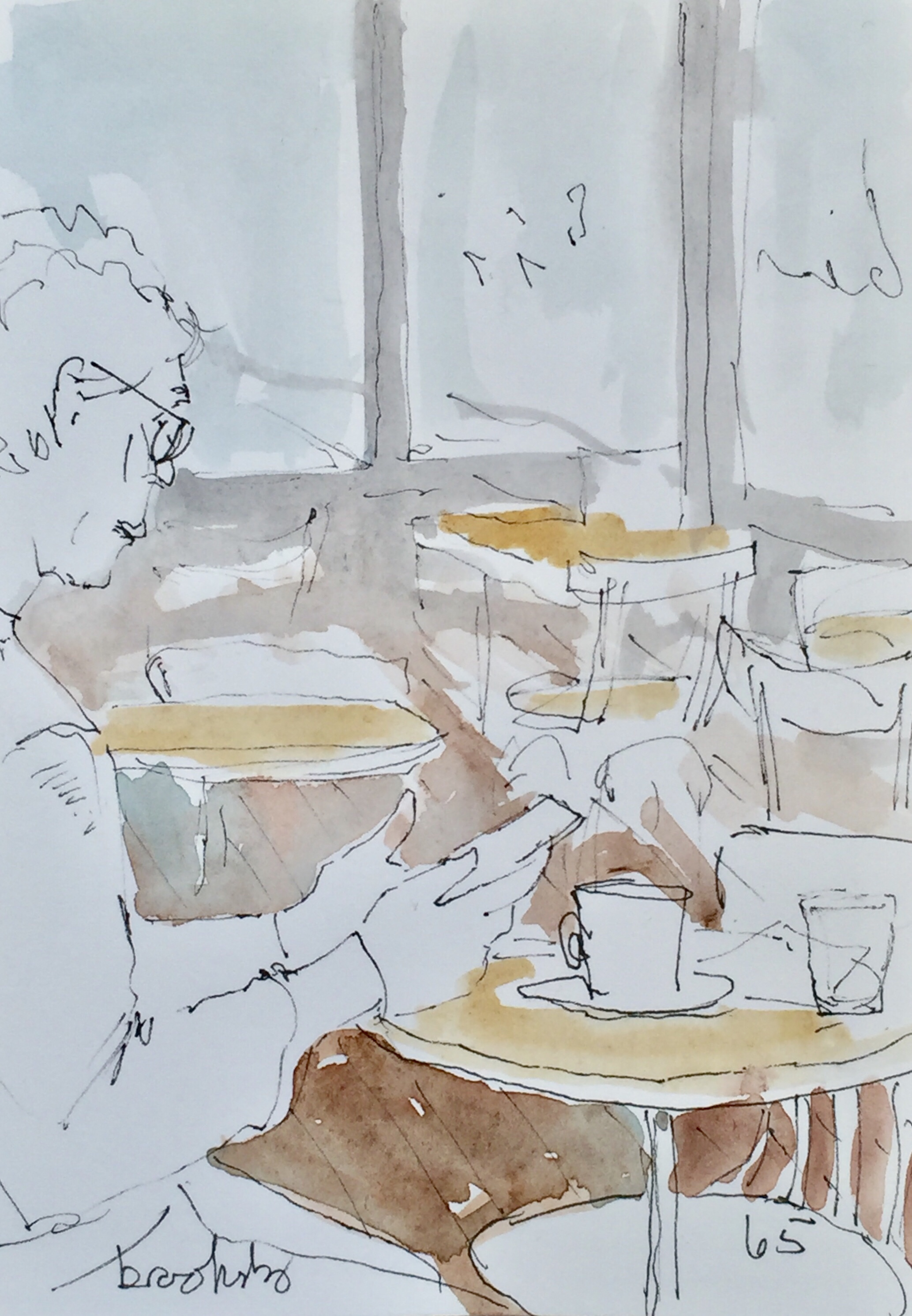 illustration of a Parisian cafe