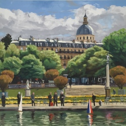 Luxembourg reflections, private collection