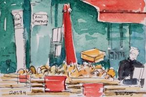 watercolor of paris