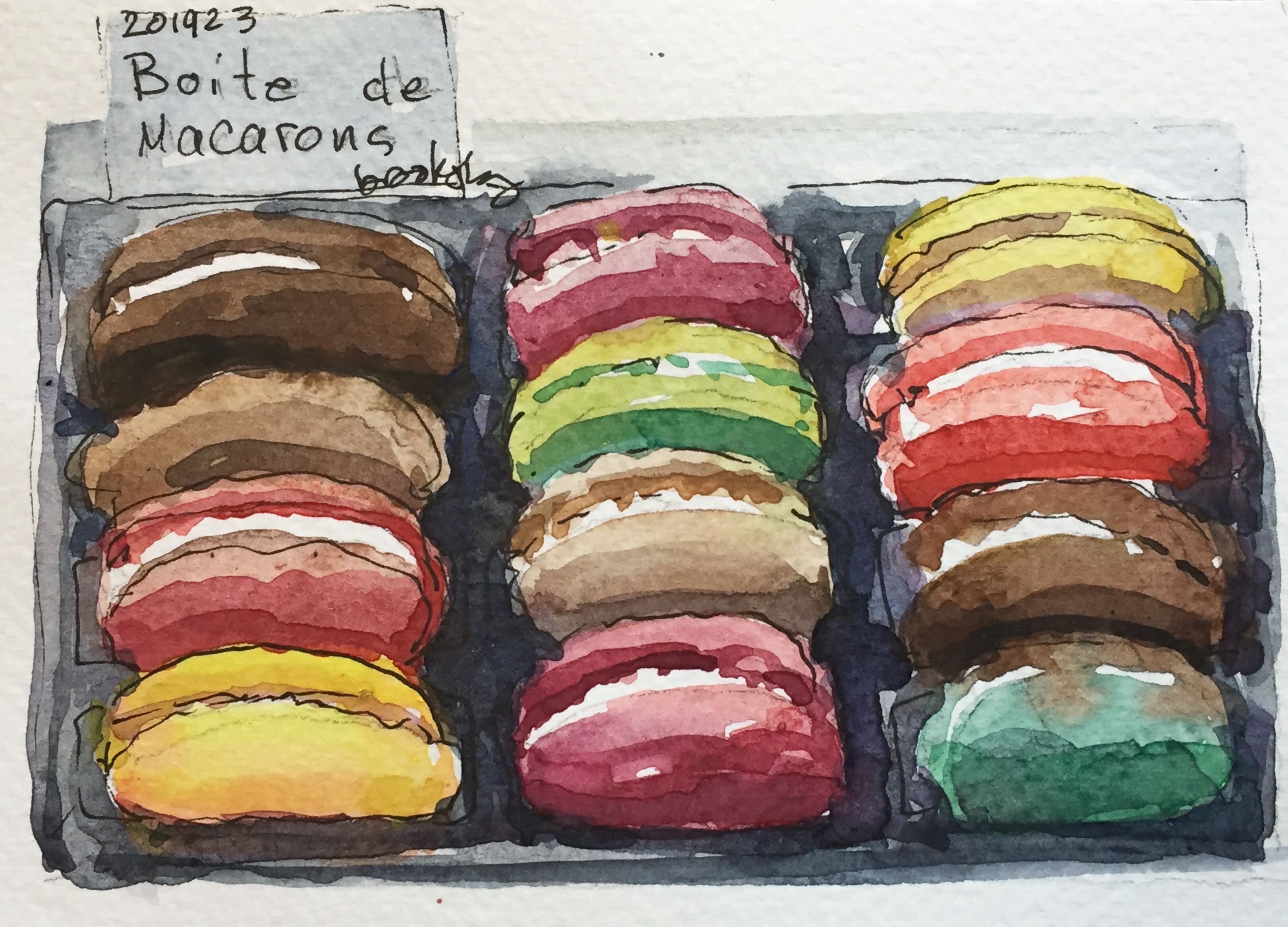 an illustration of macarons