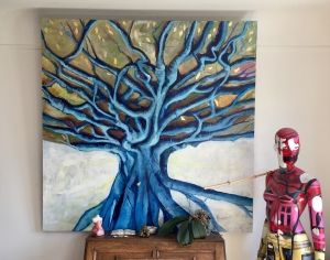 Oil painting tree of life