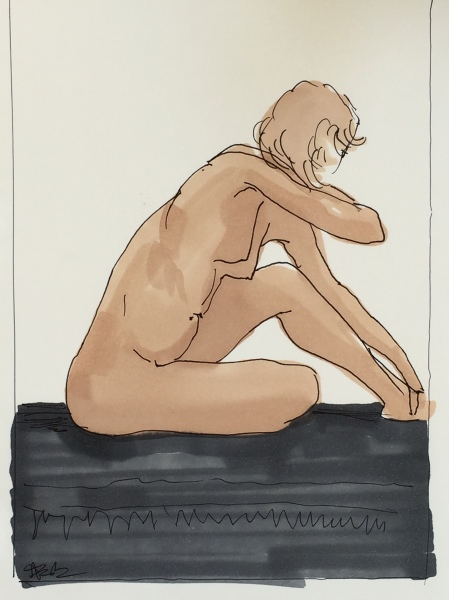 artistic illustration of a nude
