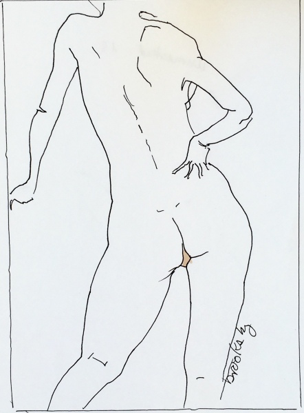 Pen and Ink of a nude