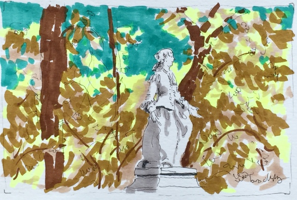 an illustration from Jardin de Luxembourg